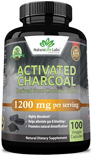 Activated Charcoal Capsules - 1,200 mg Highly Absorbent Helps Alleviate Gas...