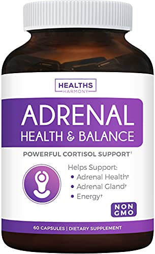 Adrenal Support & Cortisol Manager (Non-GMO) Powerful Adrenal Health with...