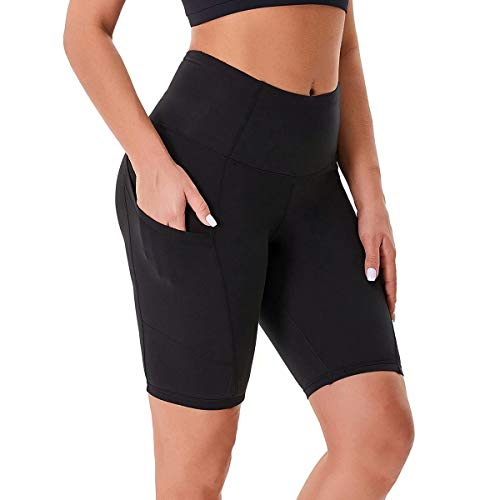 HIGHDAYS Biker Shorts for Women - High Waisted Workout Shorts with Pockets,...