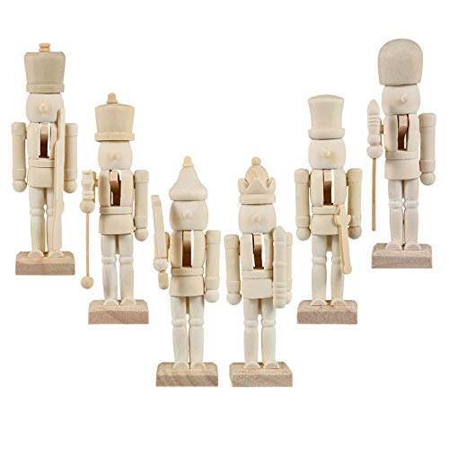 Amosfun Paint Nutcracker Christmas Kids Ornament kit Crafts to Your own...