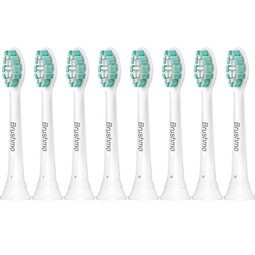 Brushmo Replacement Toothbrush Heads Compatible with Phillips Sonicare...