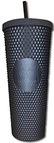 Starbucks Fall 2019 Matte Black Studded Plastic Tumbler Cold Cup Limited...