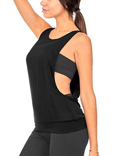 DEAR SPARKLE Open Side Tank Top for Women - Yoga Active Loose Workout...