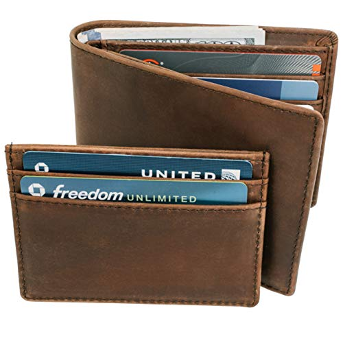 STAY FINE RFID Blocking Wallets For Men with Removable ID Holder  Mens...