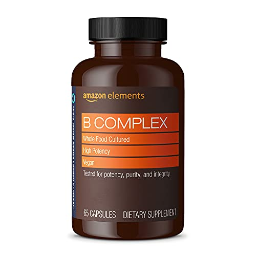 Amazon Elements B Complex, High Potency, 83% Whole Food Cultured, Supports...