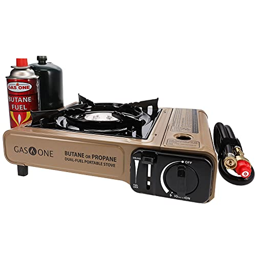 Gas ONE Propane or Butane Stove GS-3400P Dual Fuel Portable Camping and...