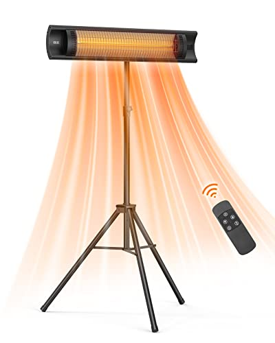 Outdoor Patio Heater, Electric 1500W Infrared Patio Heater with Remote, 3...
