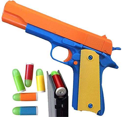 Colt 1911 Toy Gun with Ejecting Magazine and Glow Tip Bullets - Style of...