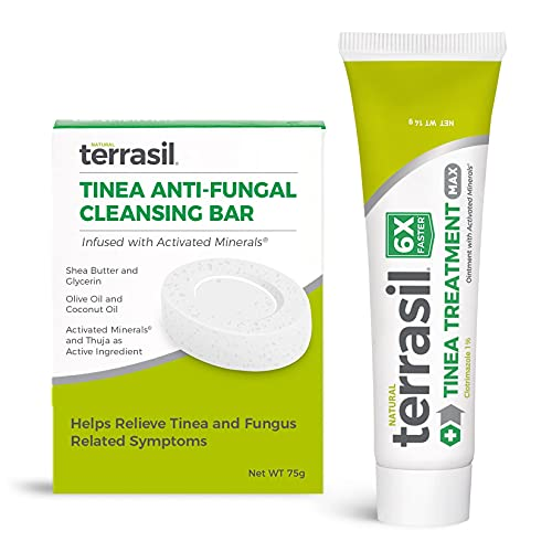 Terrasil Tinea Treatment 2-Product Ointment and Cleansing Bar System with...