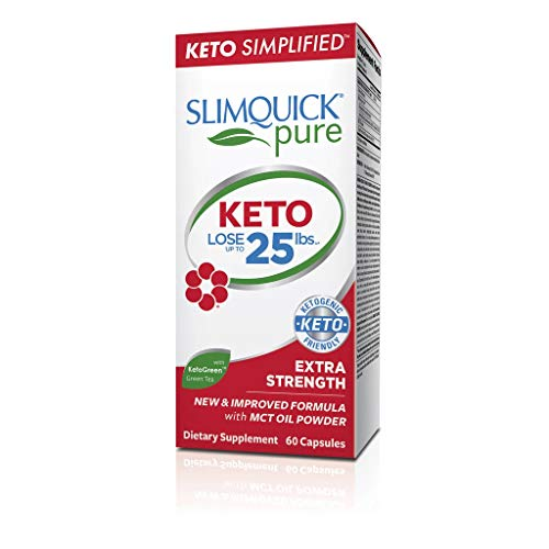 SLIMQUICK Pure Extra Strength Weight Loss For Women Caplets 60 ea (Pack of...
