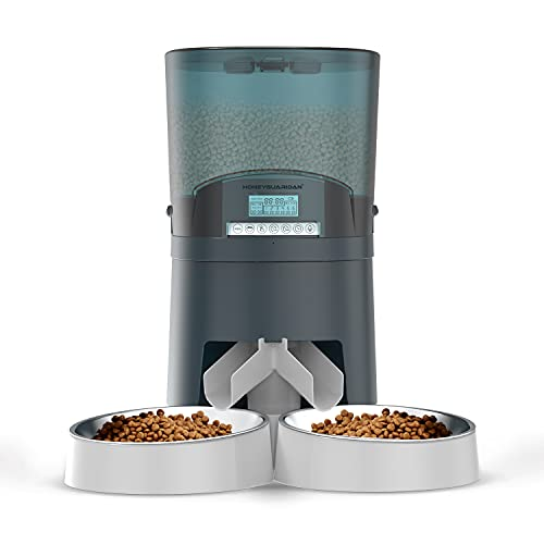 Cat Feeder, HoneyGuaridan 7L Automatic Pet Feeder for Two Cats Dogs Food...