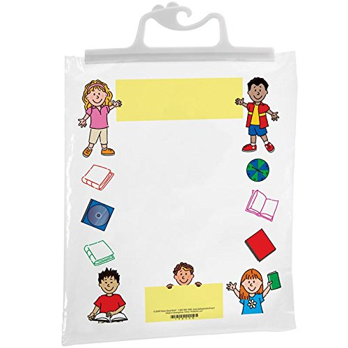 Really Good Stuff Hang-Up Clear Plastic Bags – Store Student Materials,...