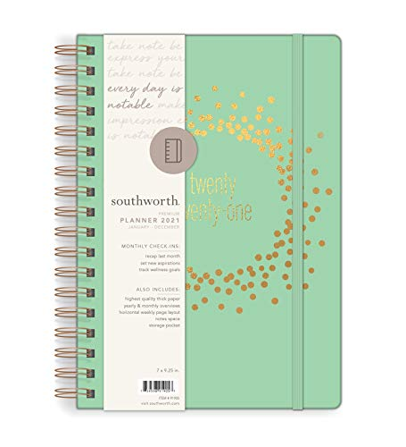 Southworth 2021 Yearly Planner (January, 2021-December, 2021), Monthly and...