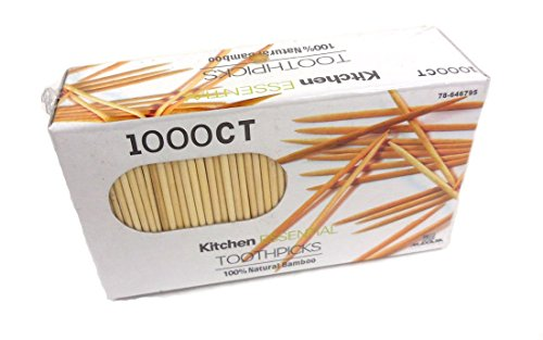 1000 Count 100% Natural Bamboo Toothpicks – Kitchen Essential