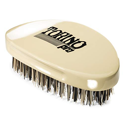 Torino Pro Wave Brush #1510 - By Brush King - Curved, Hard Palm/Military...