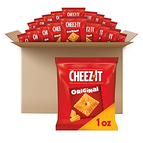 Cheez-It Baked Snack Cheese Crackers, Original, School Lunch Snacks, 1 oz...