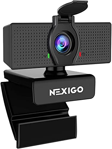 1080P Web Camera, HD Webcam with Microphone, Software Control & Privacy...