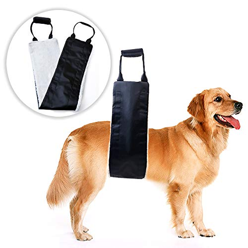 Dog Lift Support and Rehab Harness for Weak Rear Legs, Soft Sling Assist...