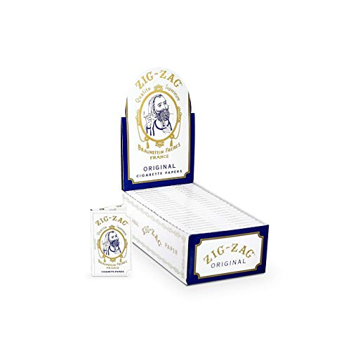 Zig-Zag Rolling Papers – Original White 70 mm Paper – Natural Gum...
