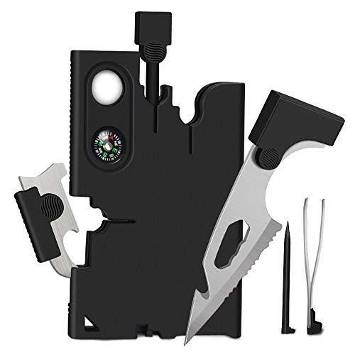 Upgraded Credit Card Tool Multitool - Tools Gifts for Men 18 in 1...