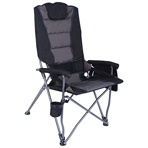 CAMPMOON High Back Padded Folding Camping Chair for Adults, Heavy Duty...