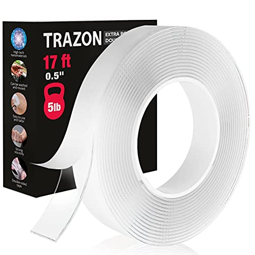 Double Sided Tape for Walls - Heavy Duty Mounting Tape - Strong Adhesive...