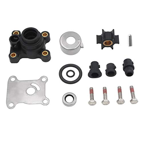Water Pump Impeller Kit for Johnson Evinrude 8-15HP Outboard with Housing...