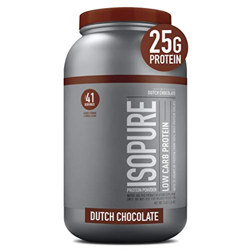 Isopure Low Carb, Vitamin C and Zinc for Immune Support, 25g Protein, Keto...