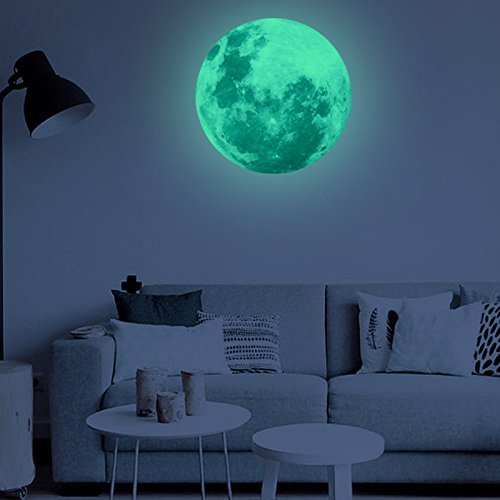 MAFOX Glow in The Dark Wall or Ceiling Stars with Moon Stickers –...