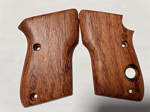 New! Grips Compatible with Beretta 21A Bobcat, Smooth Hard Wood, Handmade...