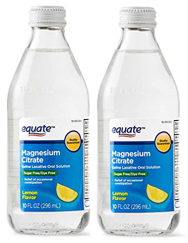 Pack of 2 Equate Magnesium Citrate Oral Solution - Saline Laxative - Lemon...