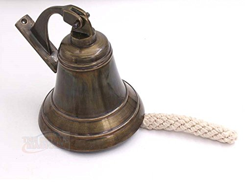 Brass Ship Bell Nautical Old Antique, Heavy Duty Old Antique Brass Bell,...