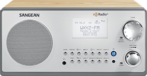 Sangean HDR-18 HD Radio/FM-Stereo/AM Wooden Cabinet Table Top Radio silver