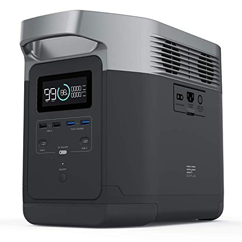 EF ECOFLOW Portable Power Station DELTA, UPS Power Supply 1260Wh Battery...