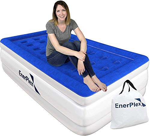 EnerPlex Twin Air Mattress - Luxury, 16-inch, Double Height Inflatable Bed...