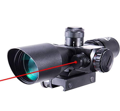 Pinty 2.5-10x40 Red Green Illuminated Mil-dot Tactical Rifle Scope with Red...