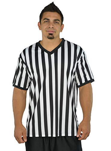 Mens Referee Shirts | V-Neck Style | Perfect Ref Shirt for Officials, Bars,...