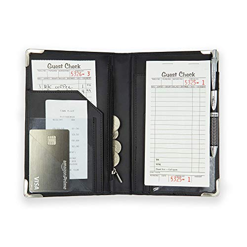 Brinero Professional Server Books for Waitress, Firmer Writing Surface,...