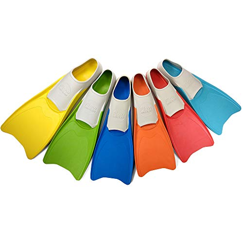 Flow Long Swim Fins for Swimming Training - Youth Sizes for Kids (XS 3-5...