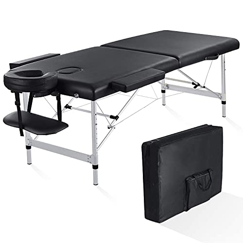 Folding Massage Table Professional Portable Massage Bed 2 Fold Extra Wide...