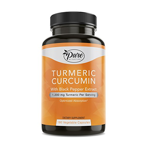 Pure By Nature Turmeric Curcuminoids with Black Pepper Extract 100%...