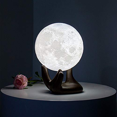 BRIGHTWORLD Moon Lamp, 3.5 inch 3D Printing Lunar Lamp Night Light with...