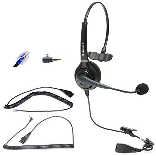 OvisLink Noise Canceling Call Center Headset Compatible with Polycom...