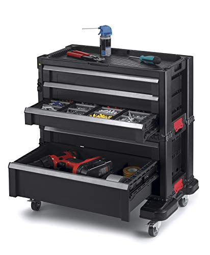 Keter Rolling Tool Chest with Storage Drawers, Locking System and 16...