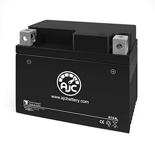 AJC Battery Compatible with Yamaha SH50 Riva Razz Scooter and Moped Battery...