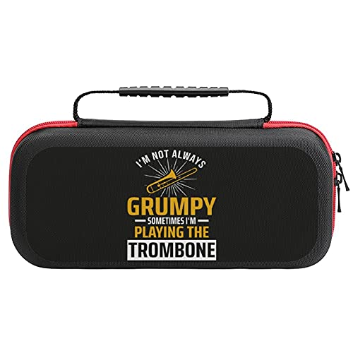 Trombone Music Trombonist Storage Case for Switch Game Console and...