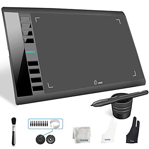 UGEE M708 Graphics Tablet, 10 x 6 inch Large Active Area Drawing Tablet...