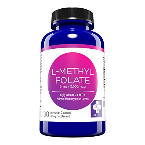 MD. Life L-Methylfolate 5 mg - Active Folate 5 Mthfr Support Supplement...