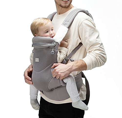 Bbpark Mesh Baby Carrier Newborn to Toddler, Facing-in and Facing-Out Front...