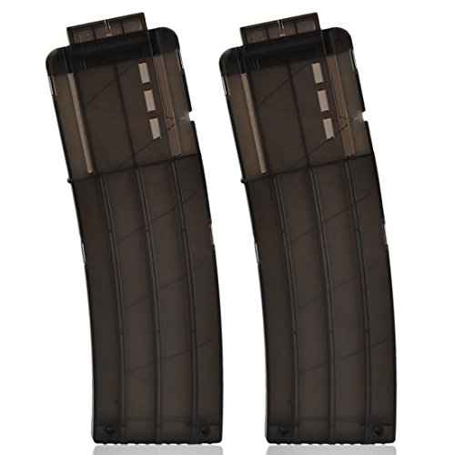 Yamix Banana Clip, 2 Pack 15-Darts Quick Reload Clip Magazine Clip for N...